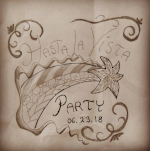The hand-written invite for my party.