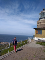 Me resting at the lighthouse.
