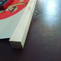 Wooden poster holder in the making II.